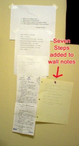 Seven Steps on the Wall